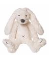 Pluche witte konijnen knuffel Richie 28 cm